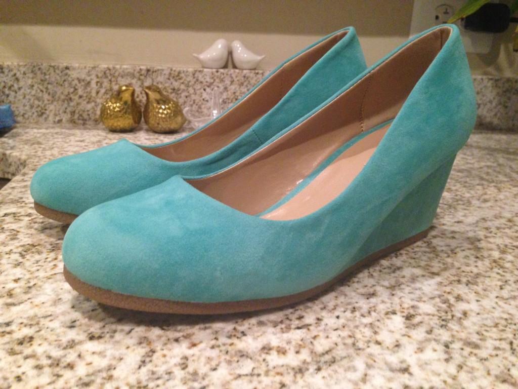 DIY Tiffany Blue Wedding Shoes Part 2