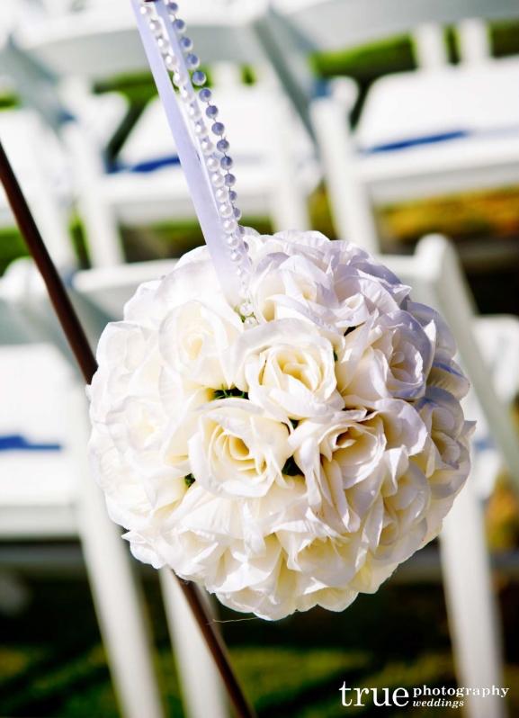Diy aisle runner inspiration the crafty esquire stylish outdoor wedding aisle decorationswhite roses pomander junglespirit Gallery
